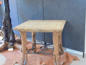 Sandstone Oak and Steel Coffee Table