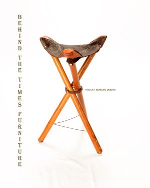 Patented Leather Folding Chair