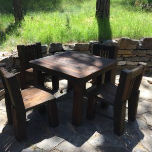 Douglas Fir Patio Table and Chairs