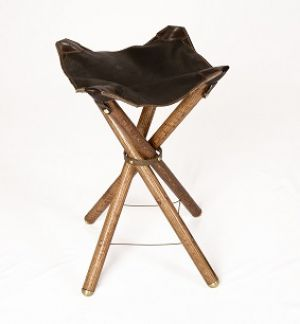 Patent Pending Leather Folding Chair
