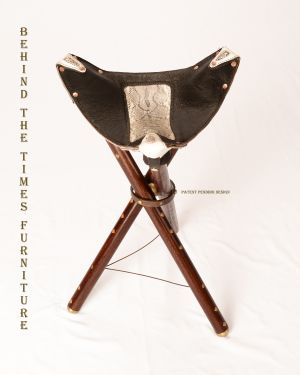 Three legged folding chair