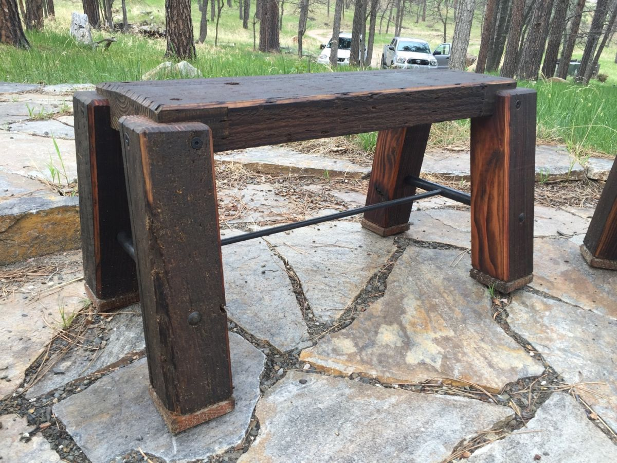 ... Small Patio Bench ...
