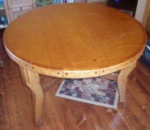 Three Legged Round Conference Table